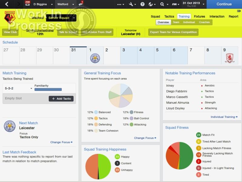 FM Screenshot - training