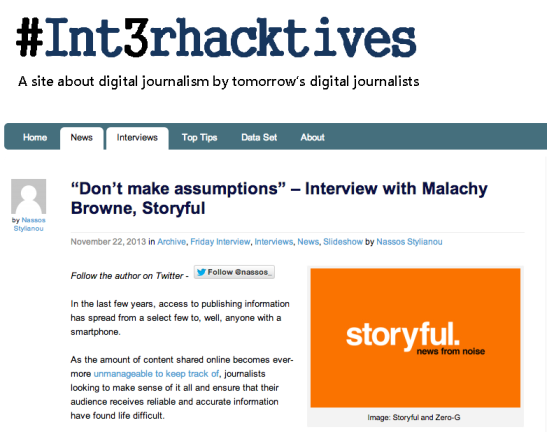 Storyful Interview screenshot
