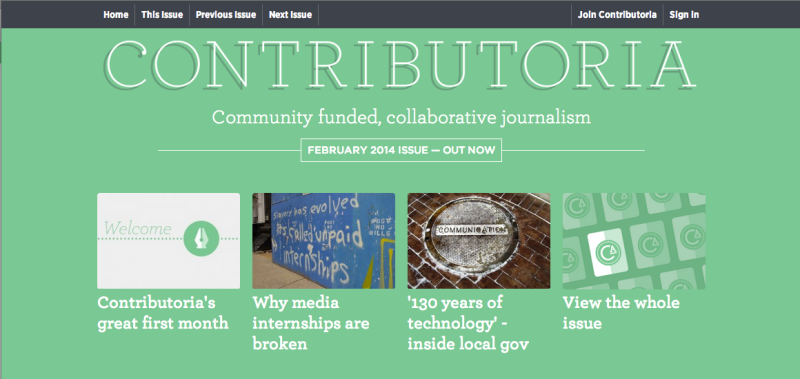 screenshot of Contributoria