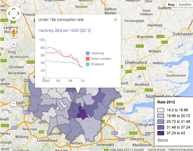 Hackney Post interactive map screenshot